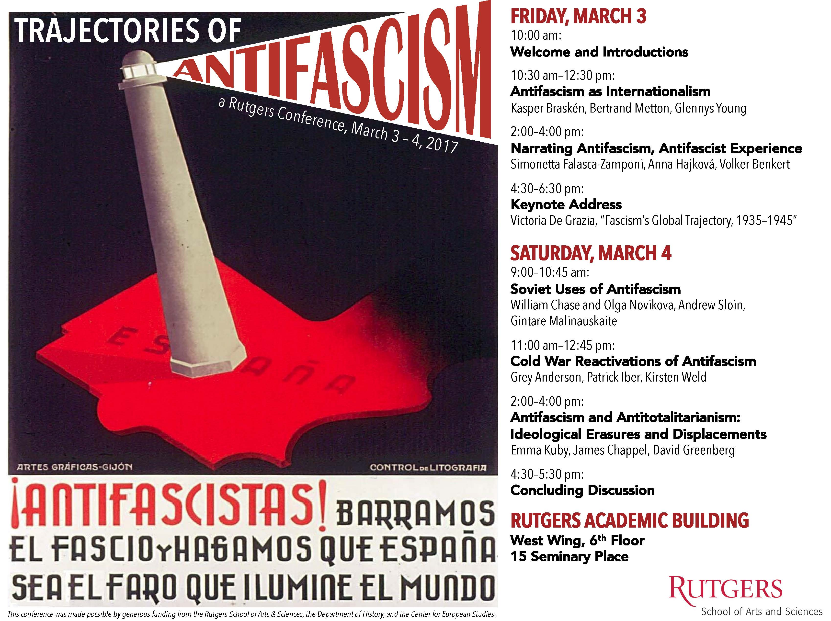 Antifascism conference poster