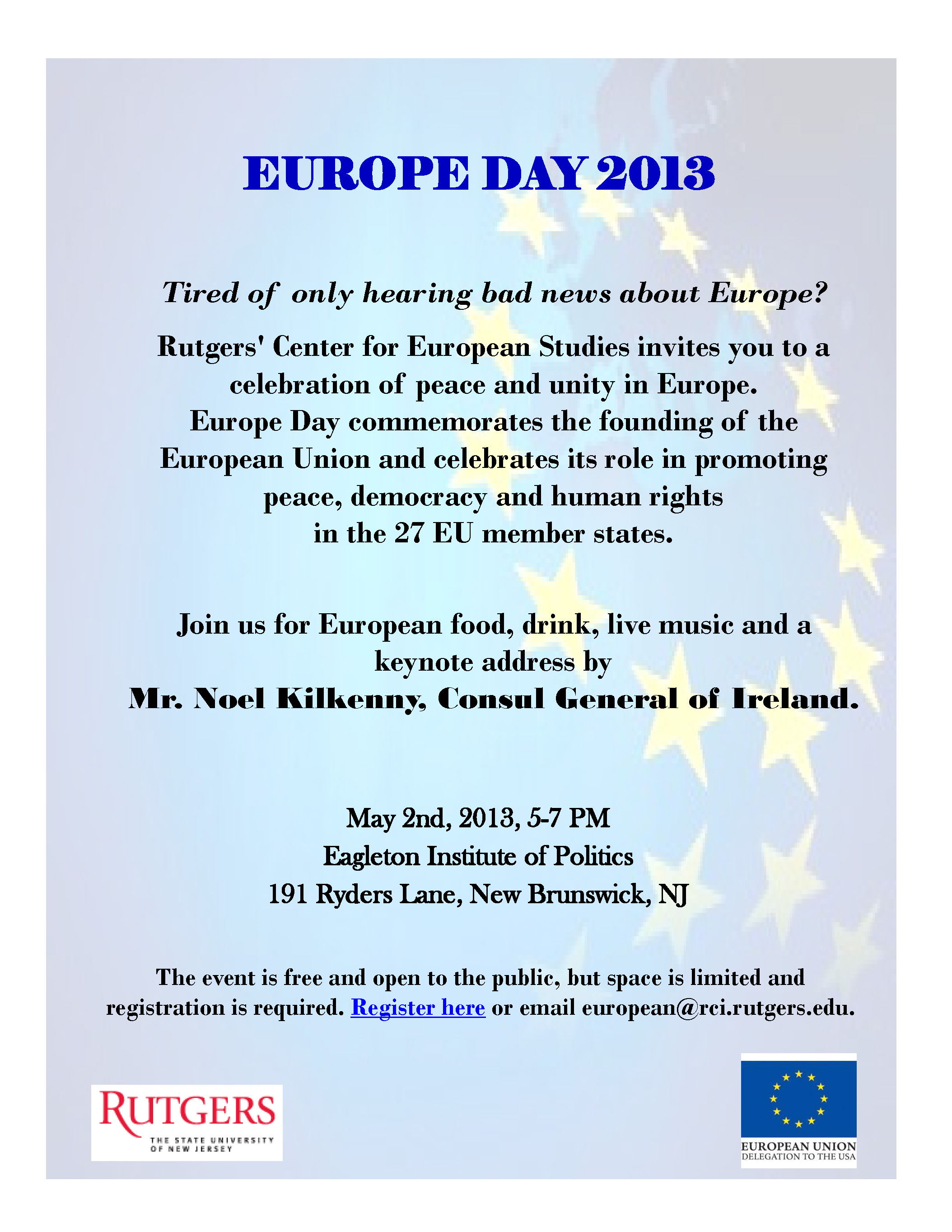 Europe Day Invitation